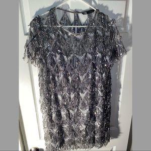 Zara Women's Shimmer Mini Dress